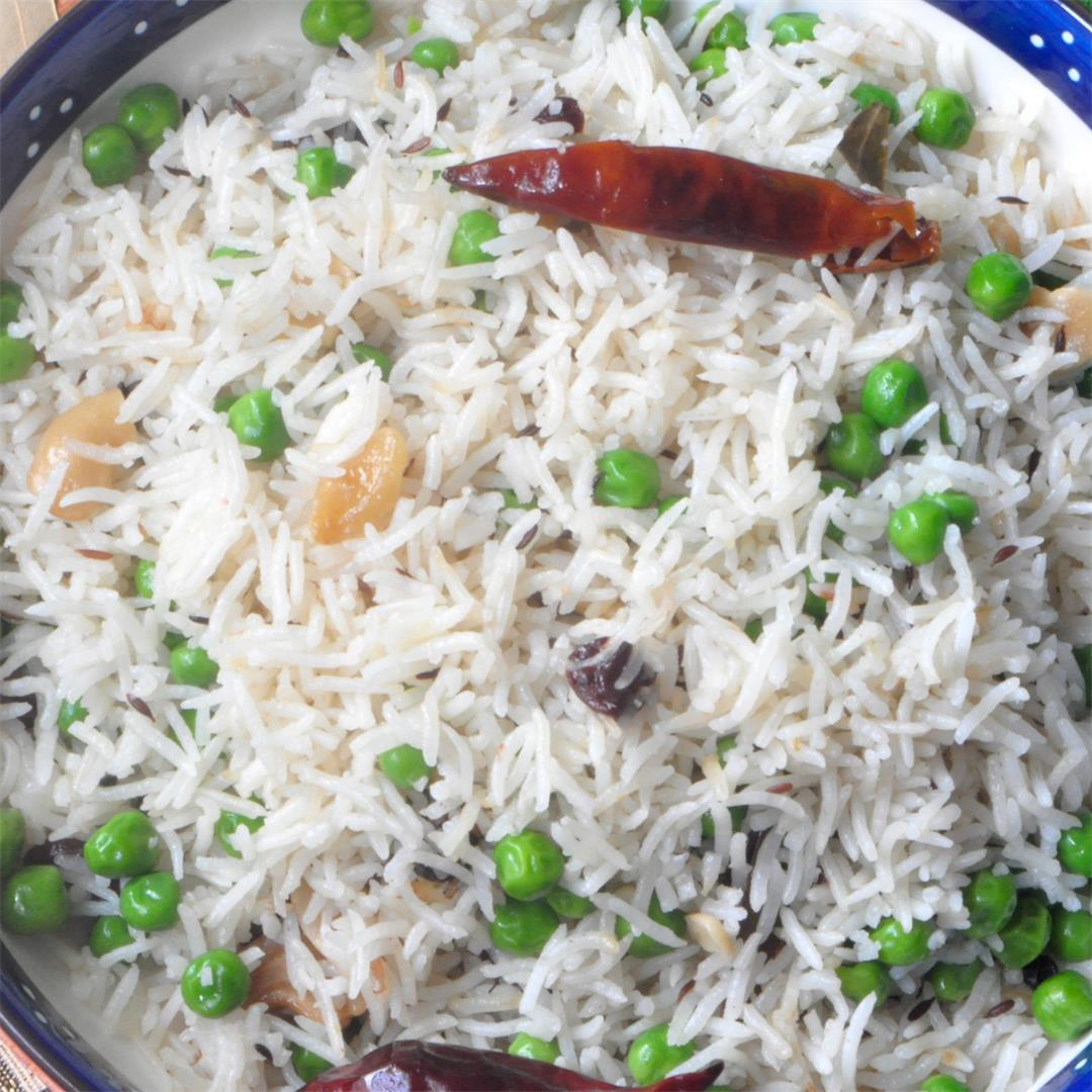 Easy Peas Pulao (Pilaf) in Instant Pot