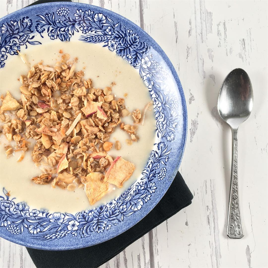 Pureed Cauliflower Soup with Garam Masala Granola