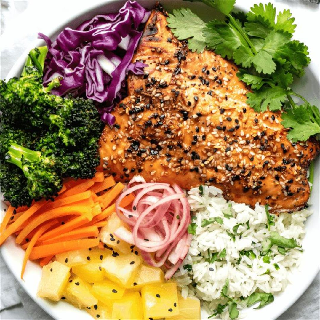Air Fried Salmon Bowl