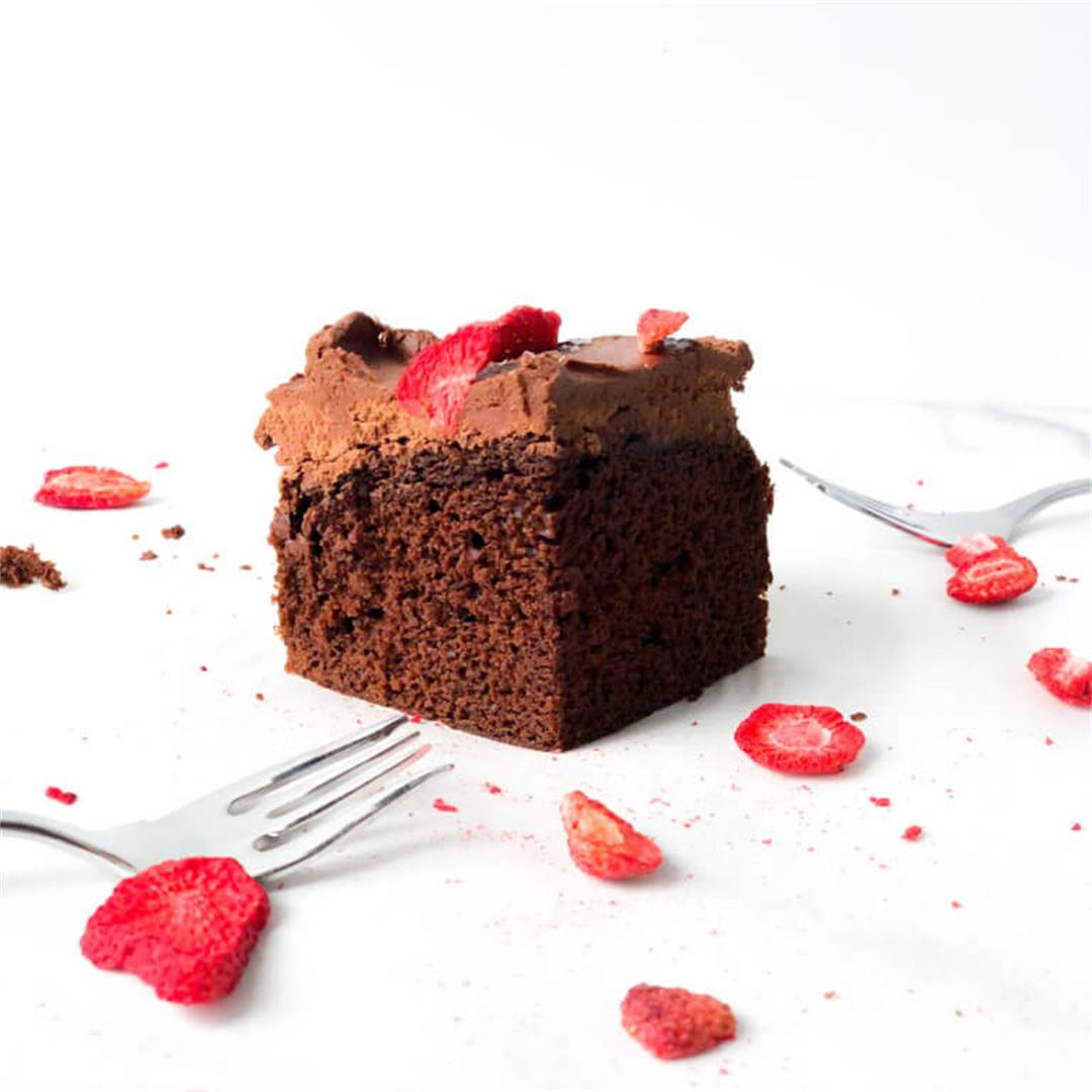 Dark Chocolate Buttermilk Cake