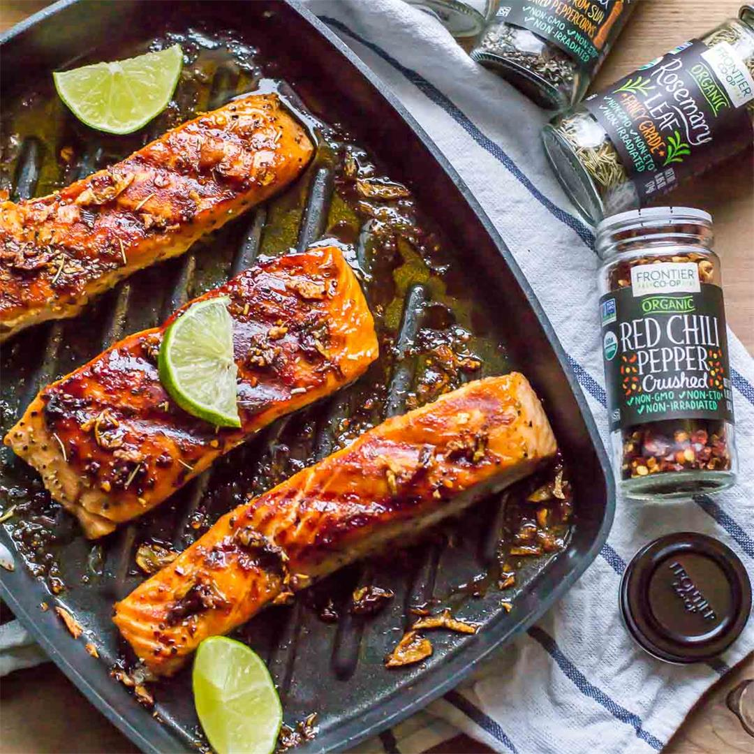 15-minute Grilled Honey Garlic Salmon