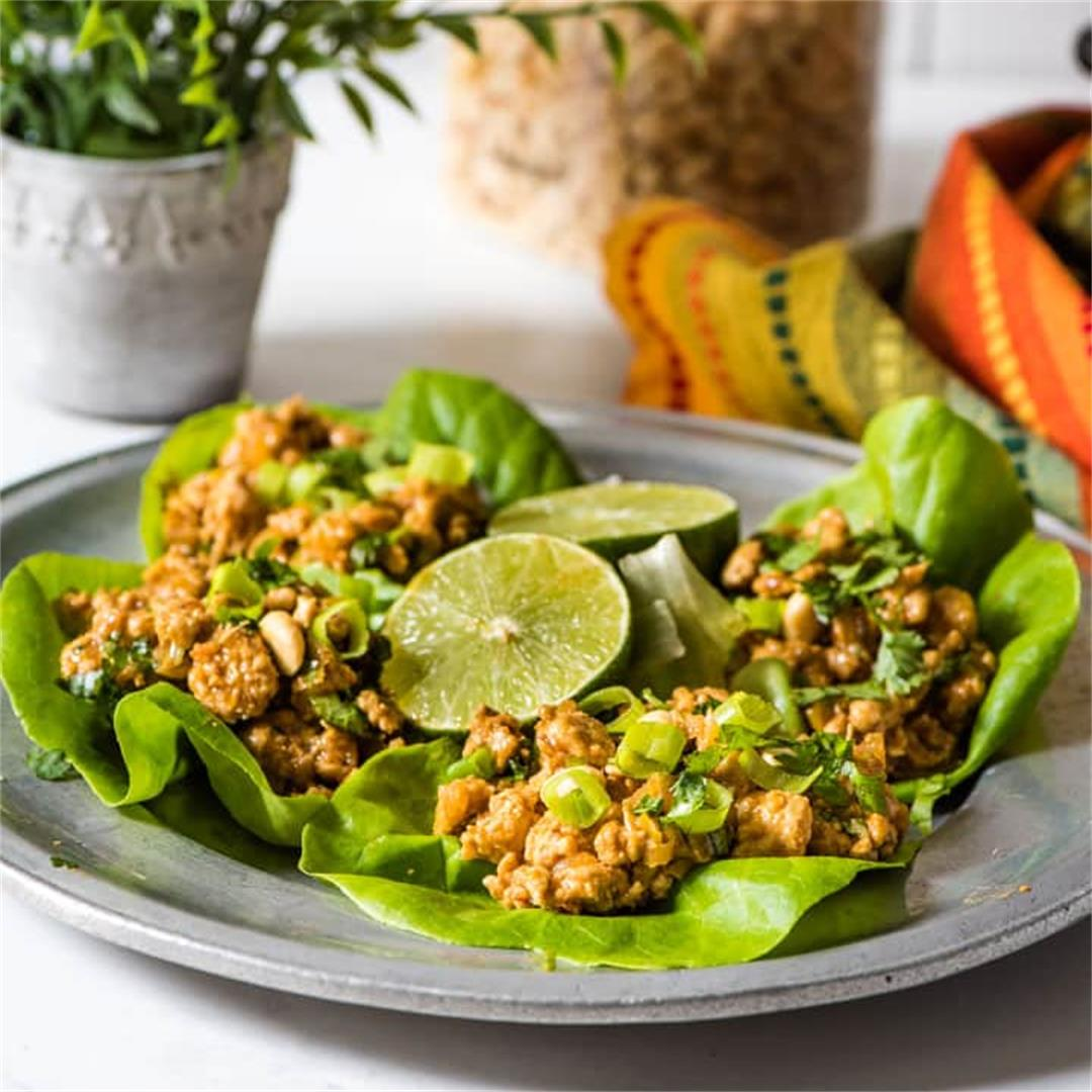 Indian Inspired Chicken Lettuce Wraps