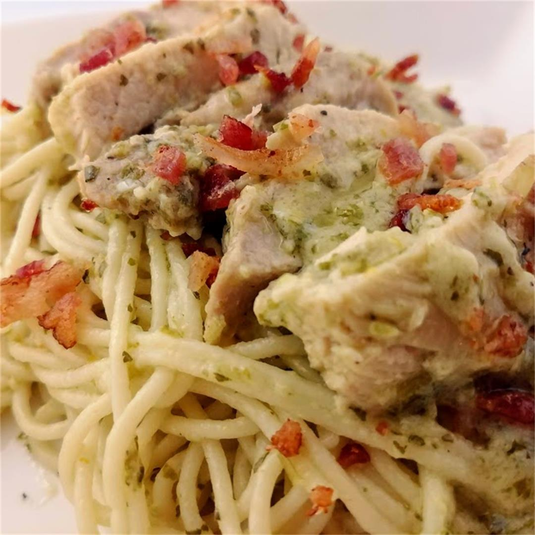 Chicken Pasta in Creamy Chimichurri Sauce