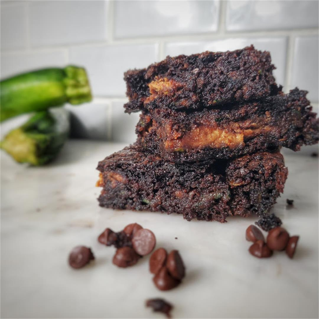 Flourless Zucchini Brownies (paleo, refined sugar free)