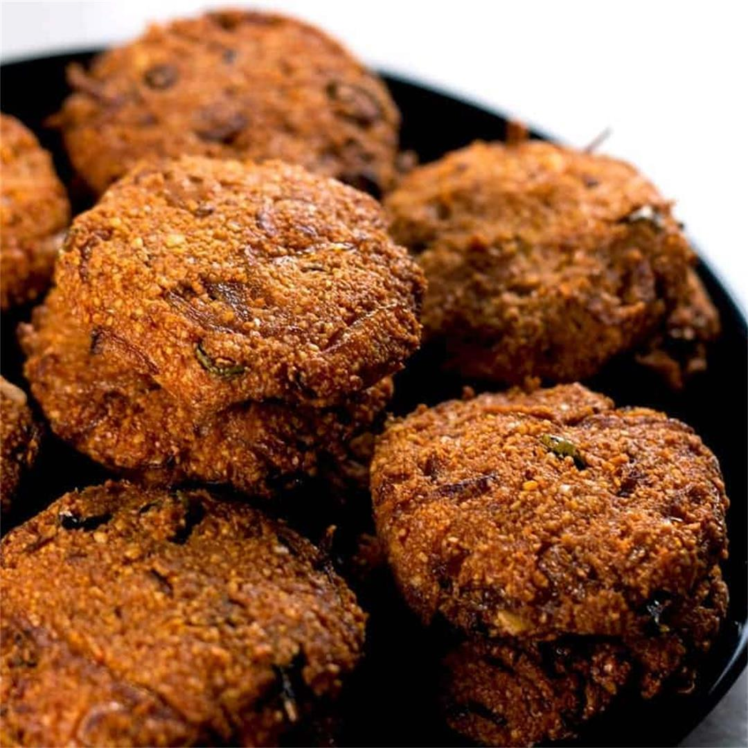 Vegan Indian Dal Pakoras (Yellow Lentil Fritters)