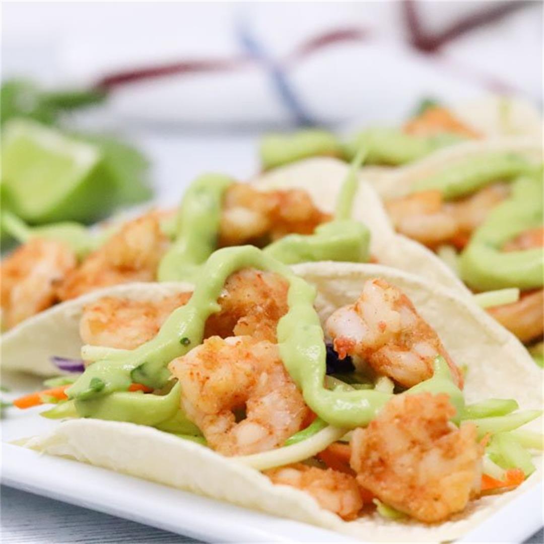 Shrimp Tacos Cilantro Lime Sauce