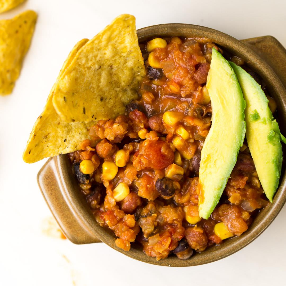 Vegan Slow Cooker Lentil Chilli