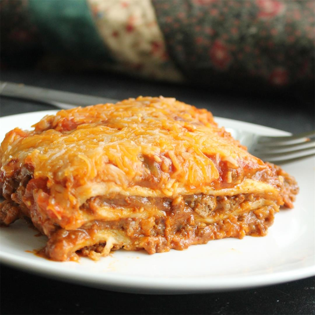Enchilada Lasagna – My Recipe Reviews