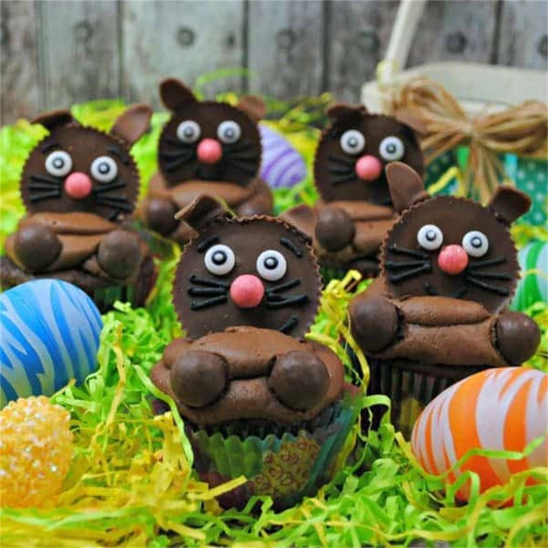 Chocolate Easter Bunny Cupcakes Recipe