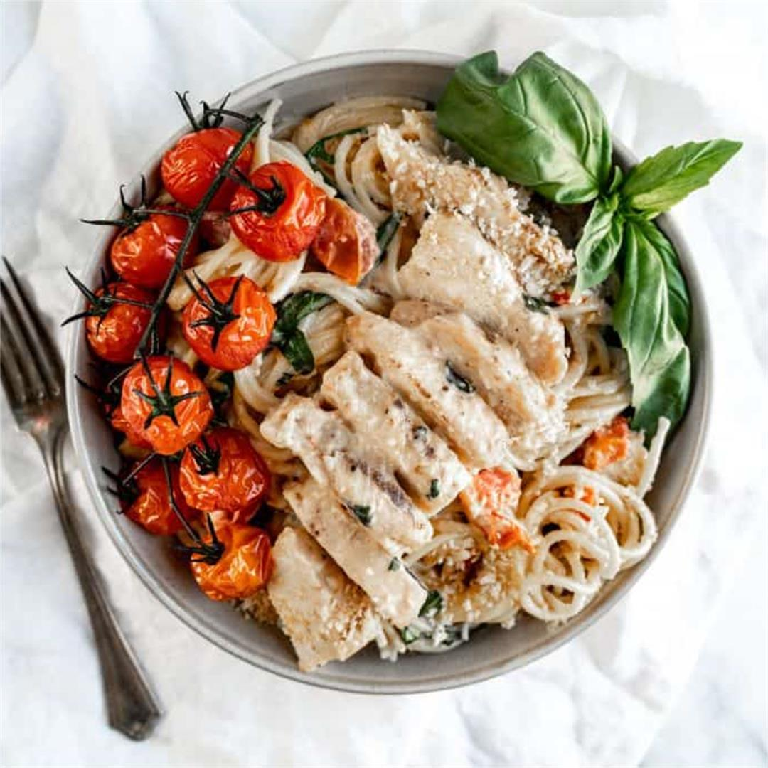 Creamy Chicken Bruschetta Pasta