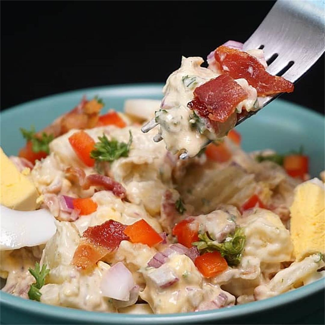 Potato Salad with Bacon and Eggs (Instant Pot or Stovetop)