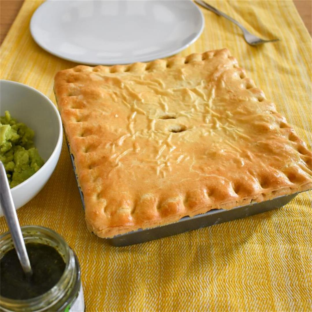 Leftover Lamb Mint and Potato Pie