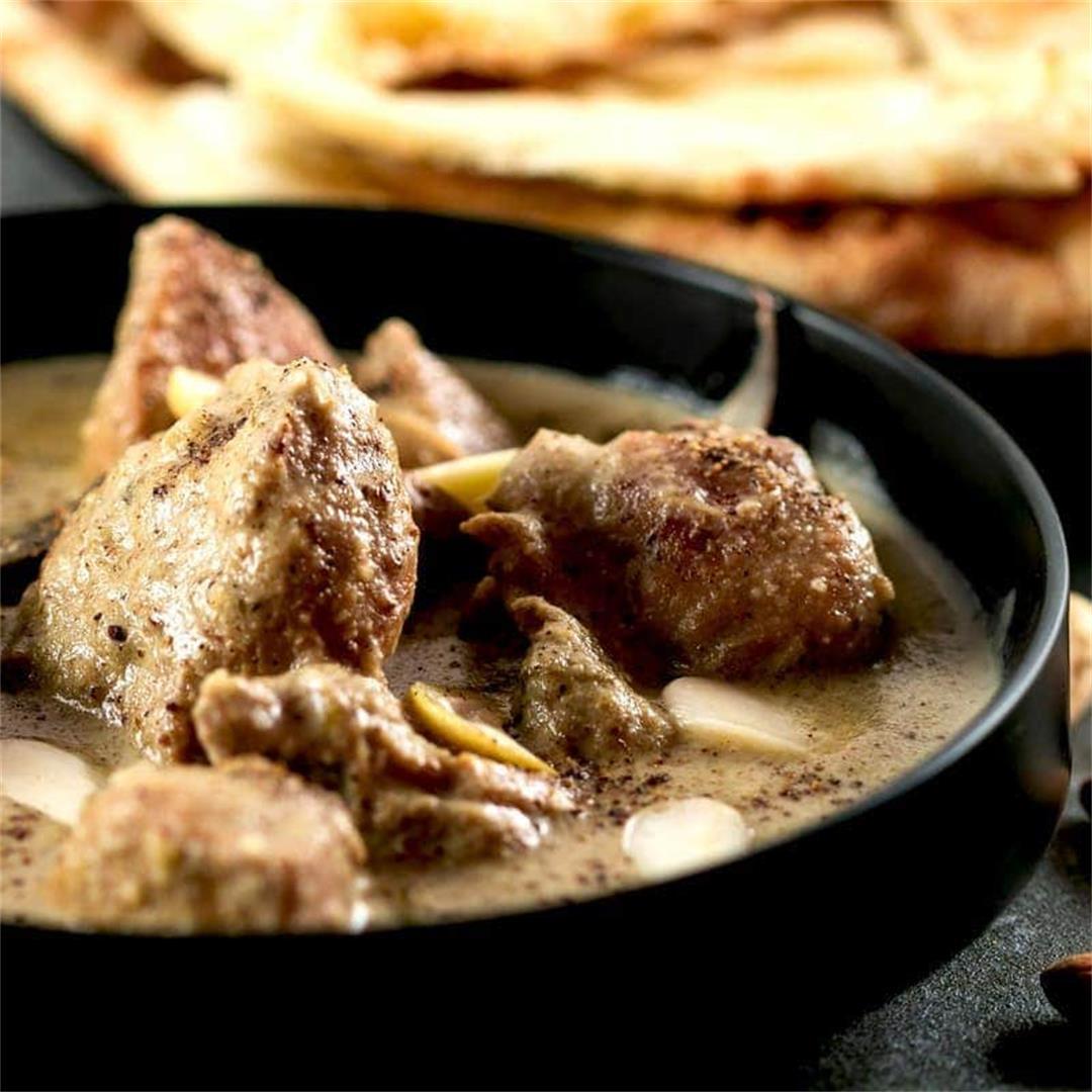 Step by Step Shahi White Chicken Korma