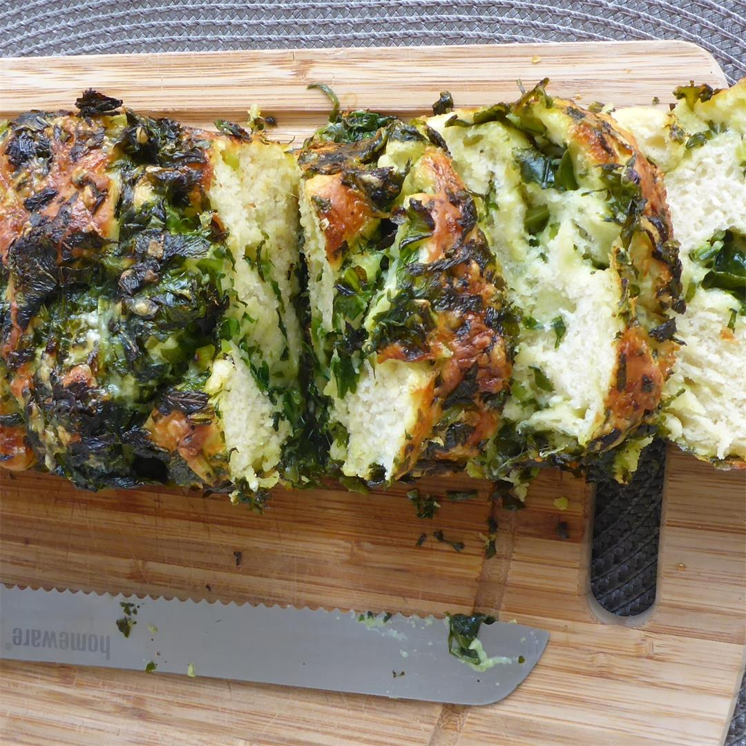 This wild garlic bread is a real SHOW stopper!!