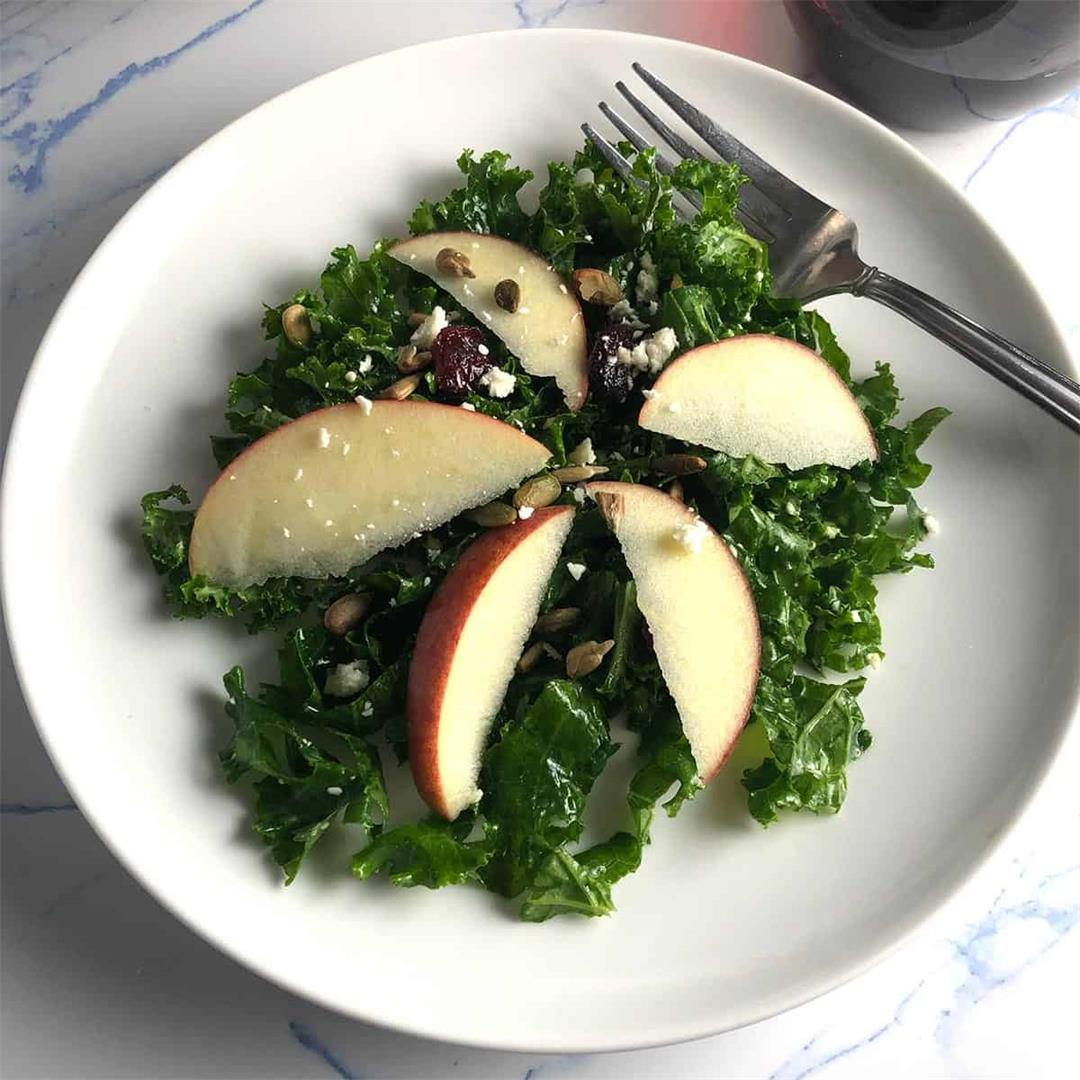 Kale and Apple Salad with Cranberries