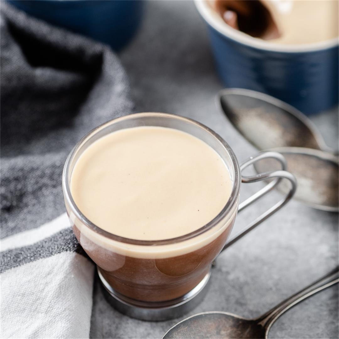 Creamy Coffee Chocolate Custard (No Bake)