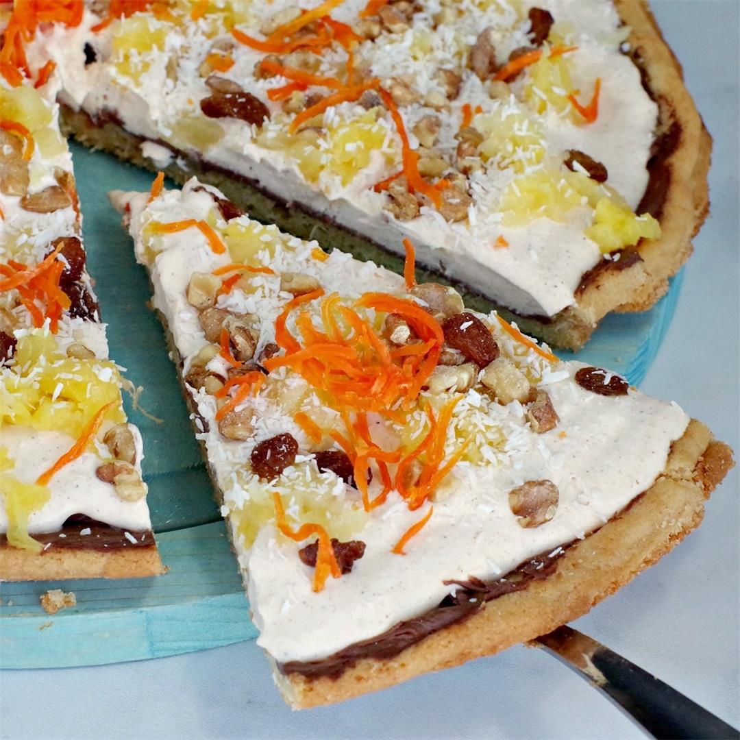 Carrot Cake Dessert Pizza