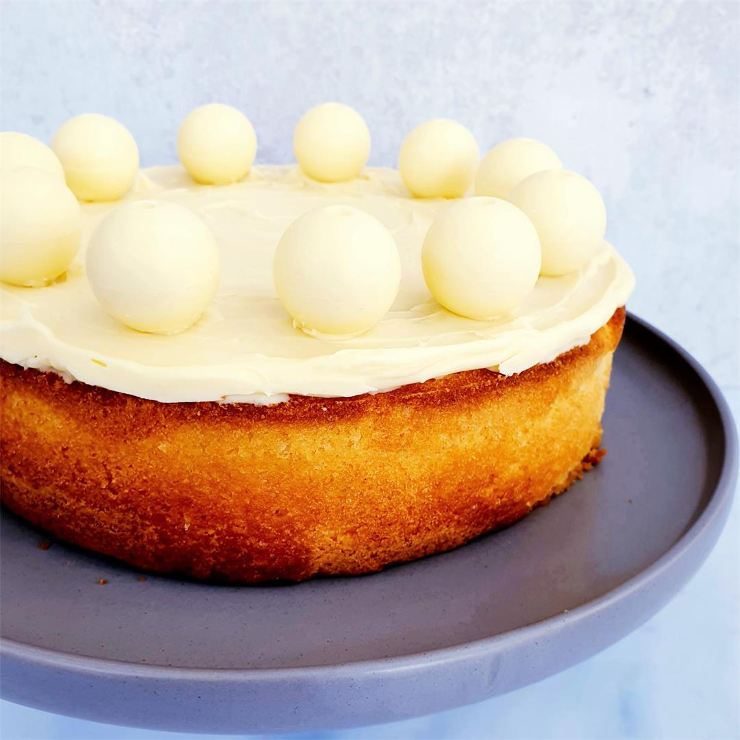 Lemon & White Chocolate 'Simnel' Cake