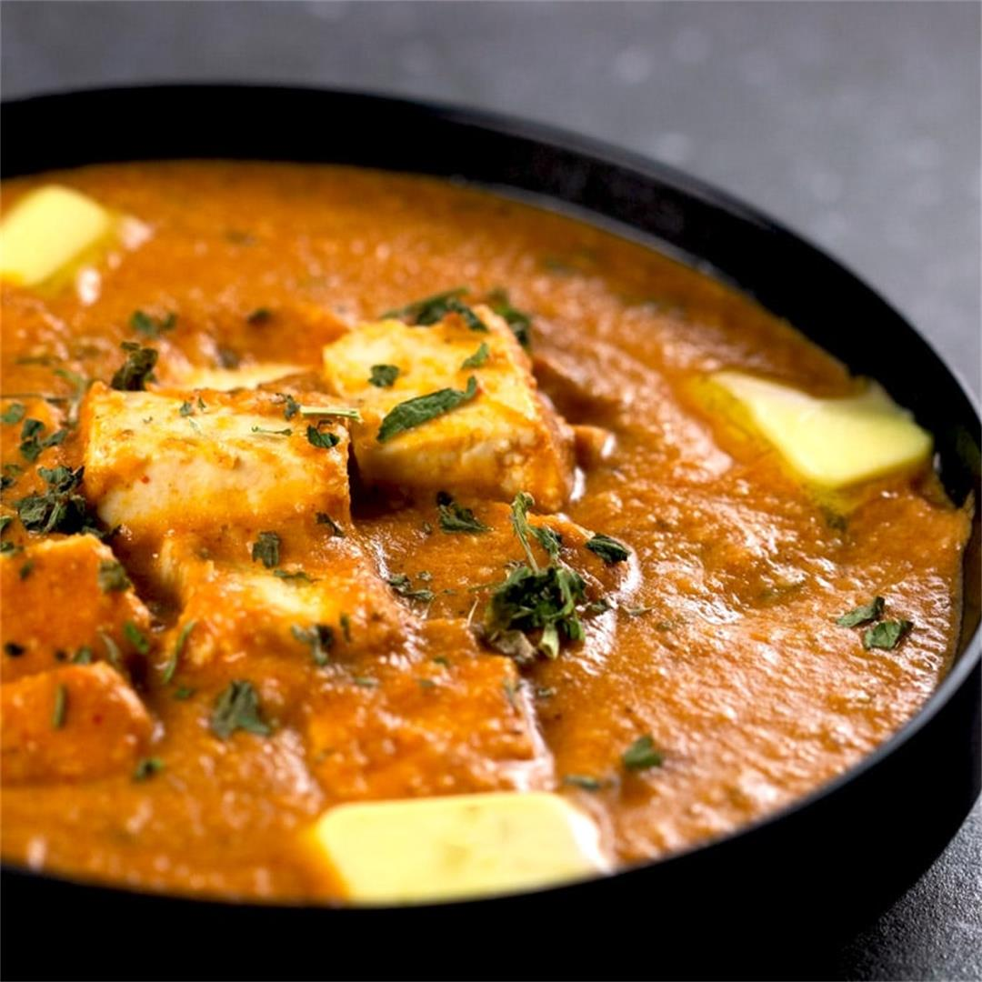 Authentic Butter Paneer (Indian Cottage Cheese Curry)