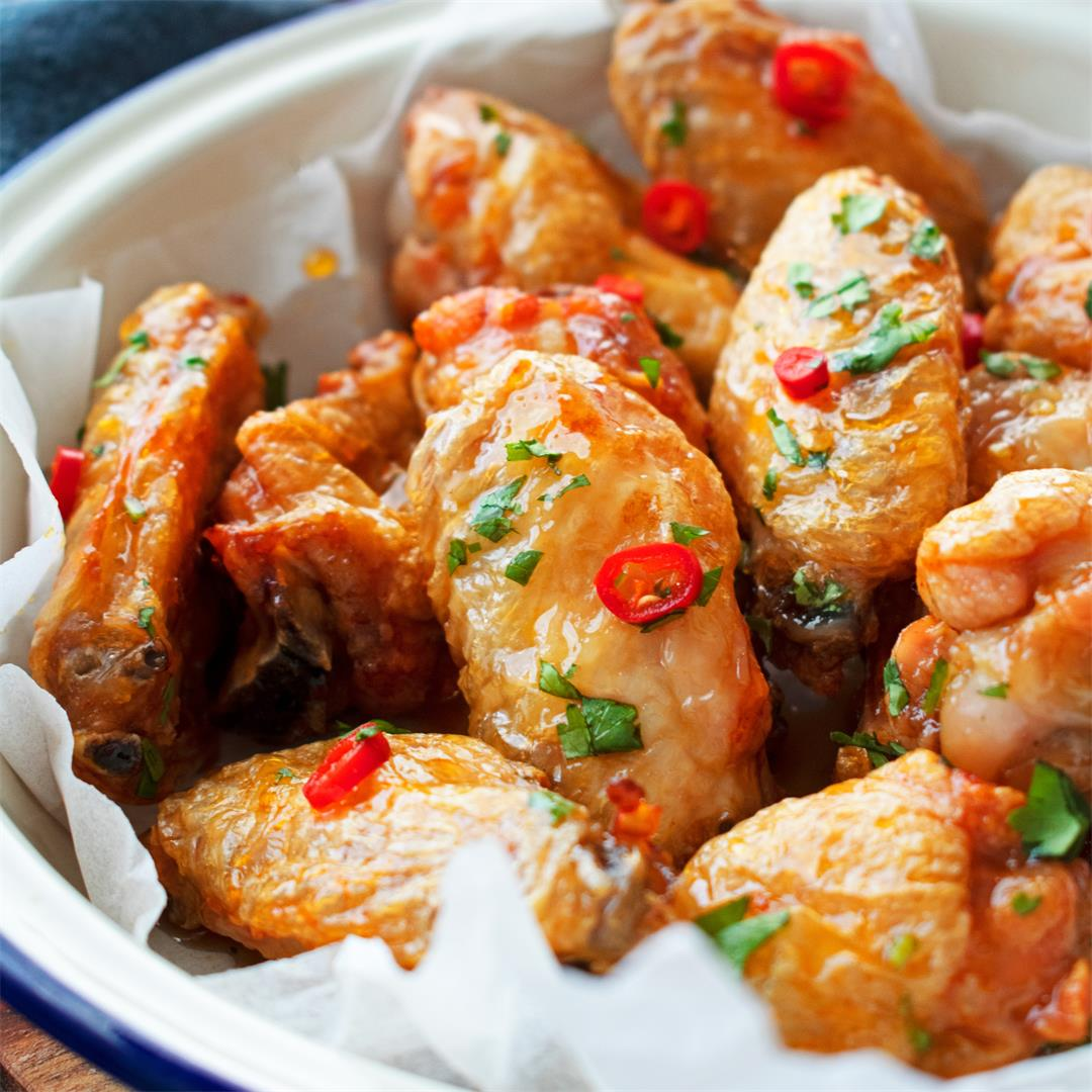 Sticky Fish Sauce Wings in Air Fryer