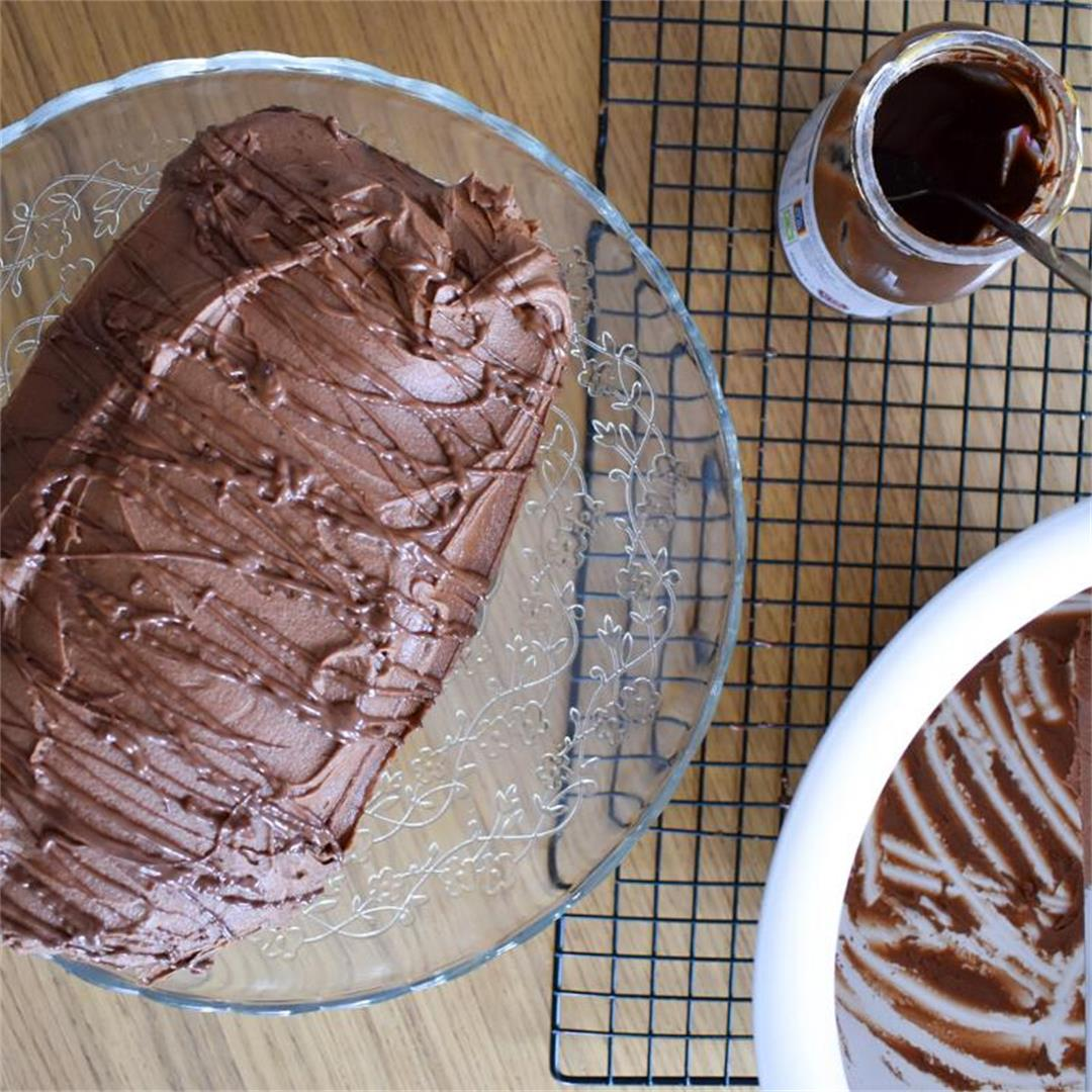 Nutella Loaf Cake with Nutella Buttercream