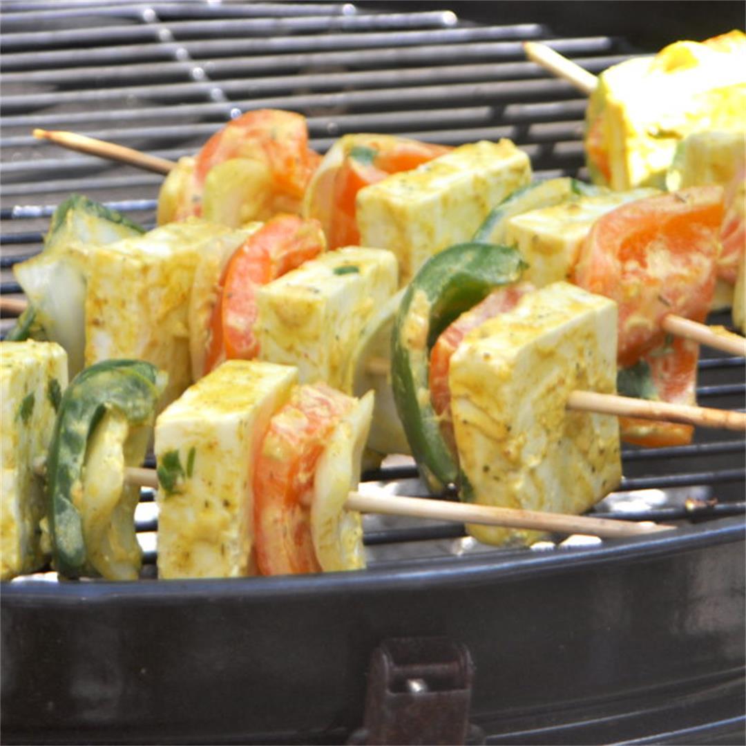 Grilled Paneer Tikka And Vegetables