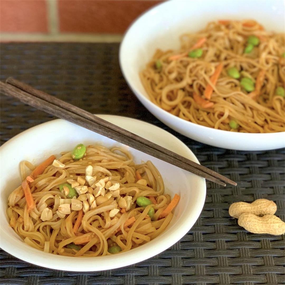 Spicy Sesame Peanut Noodles (Vegan/Gluten-Free)