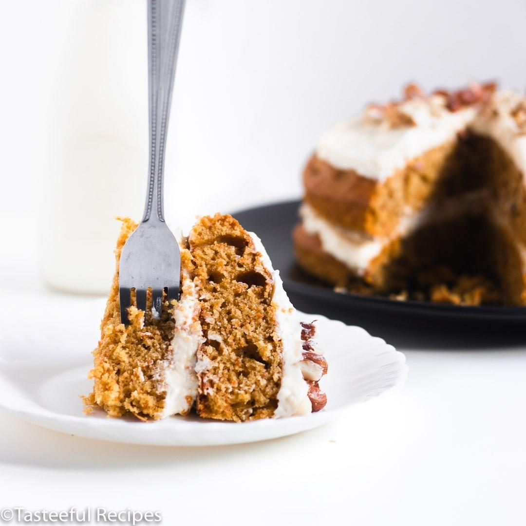 Caribbean Carrot Cake with Cream Cheese Frosting