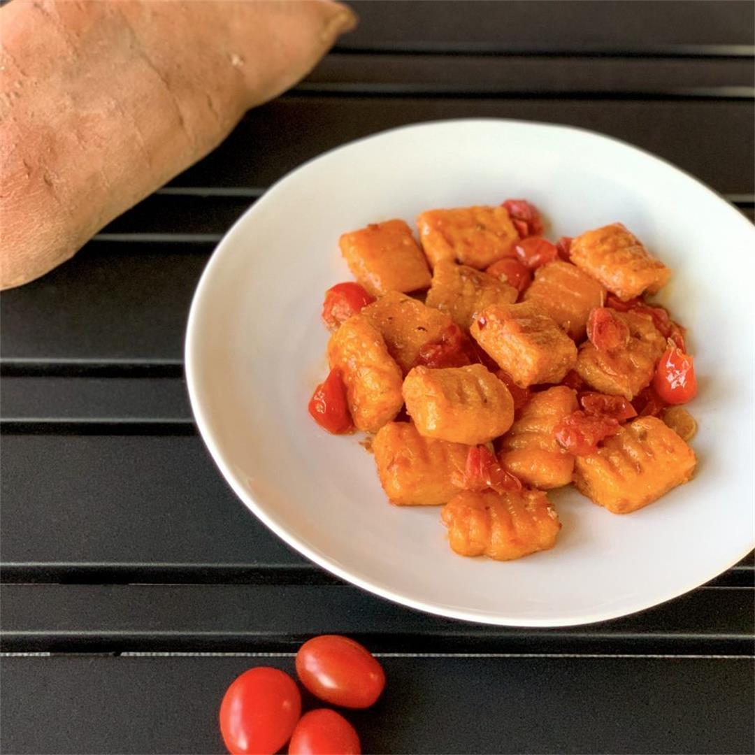 Sweet Potato Gnocchi With Cherry Tomato Sauce