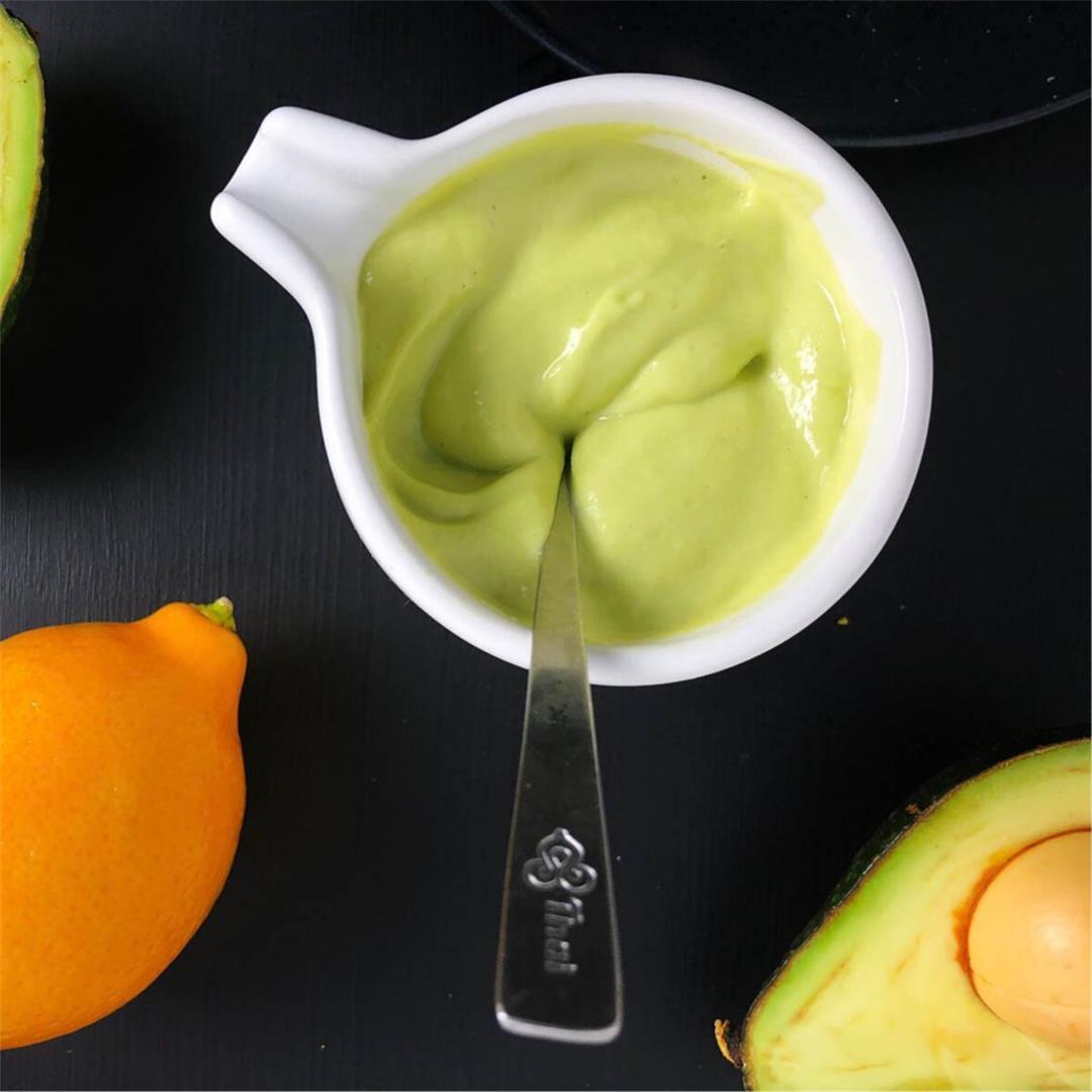 Lemony Avocado Caesar Salad Dressing