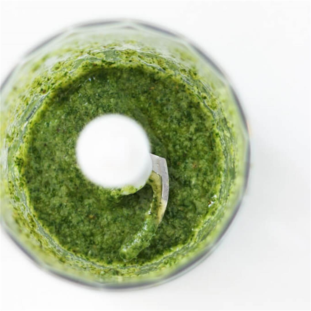 Fresh Basil Pesto (vegan)