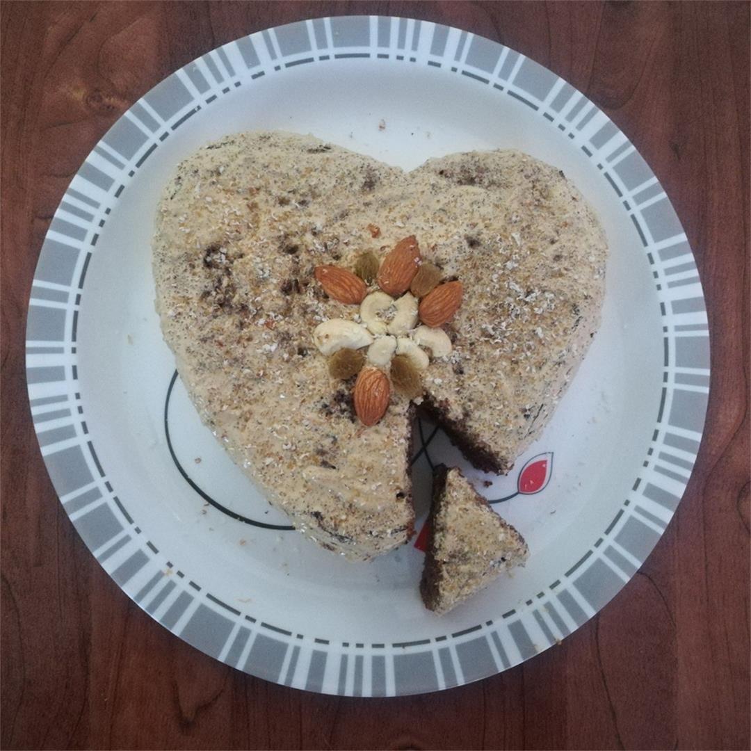 homemade eggless chocolate cake recipe