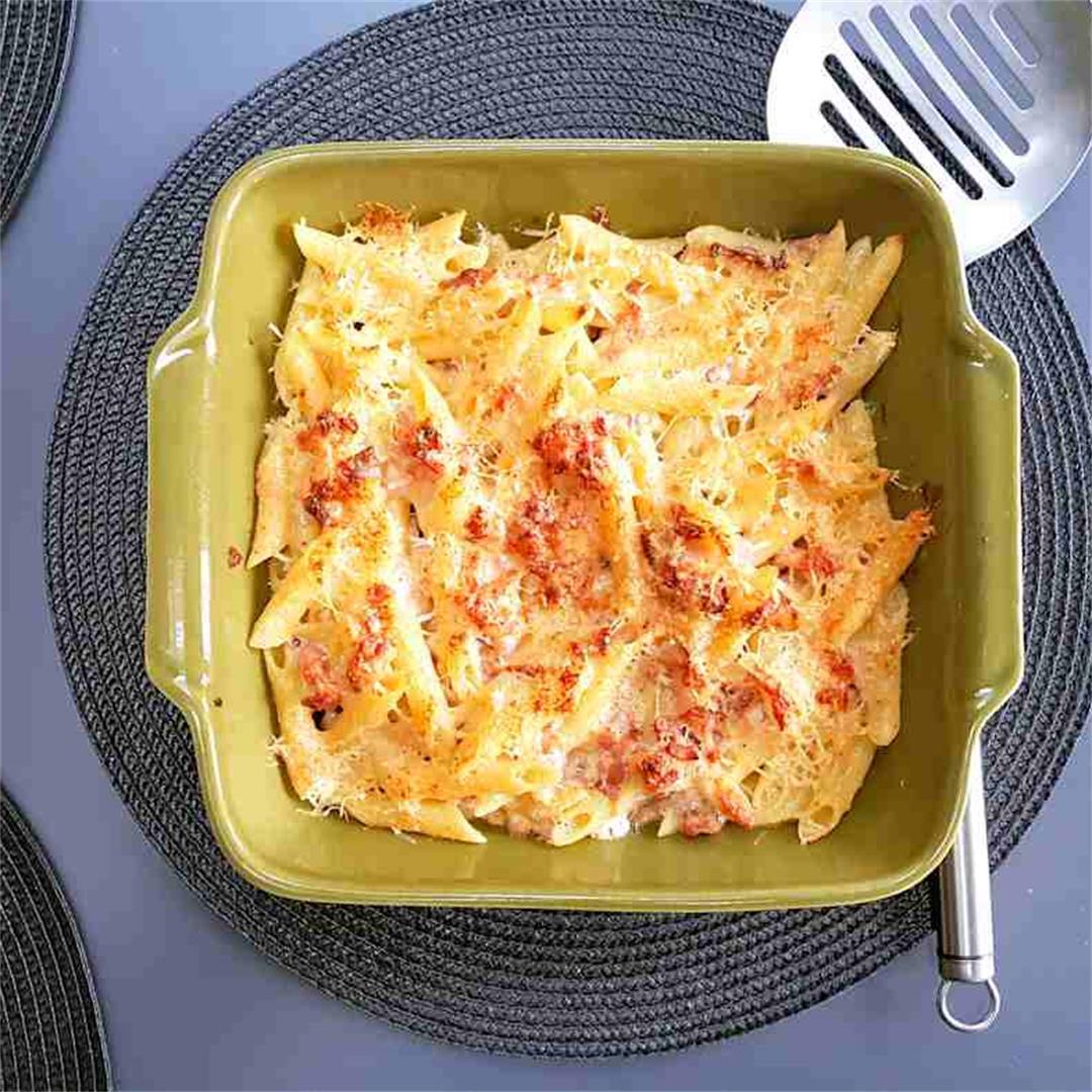 bacon and cream pasta
