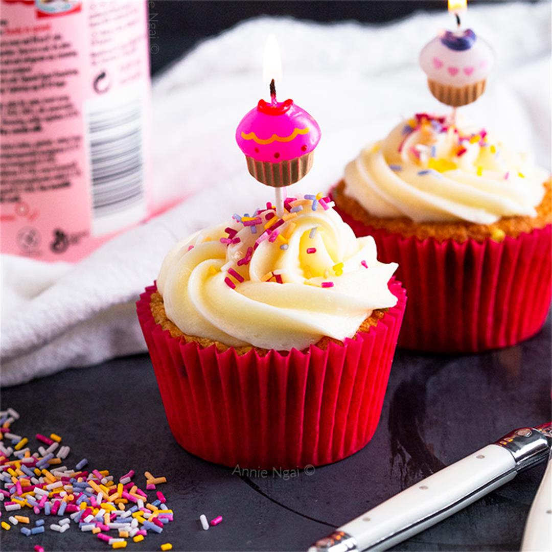 Birthday Cupcake For One {or Two!}
