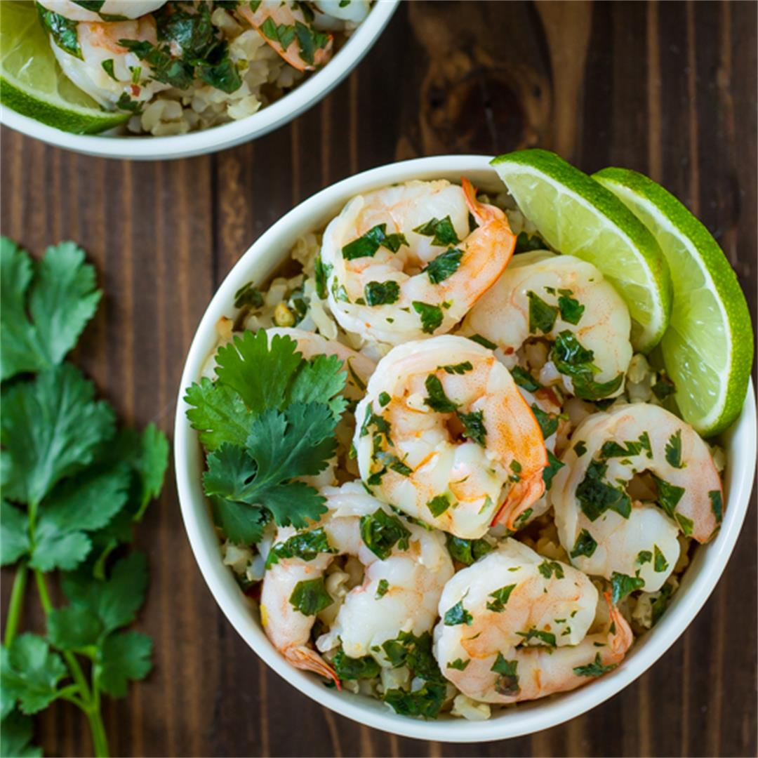 Shrimp in Butter Lime Sauce