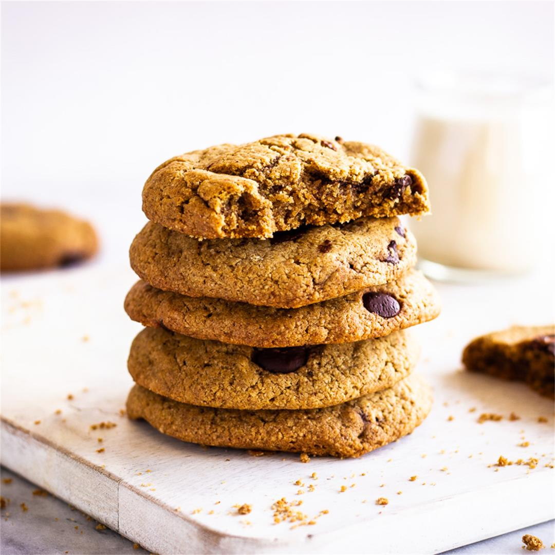 Oatmeal Chocolate Chip Cookies (vegan & gluten-free)