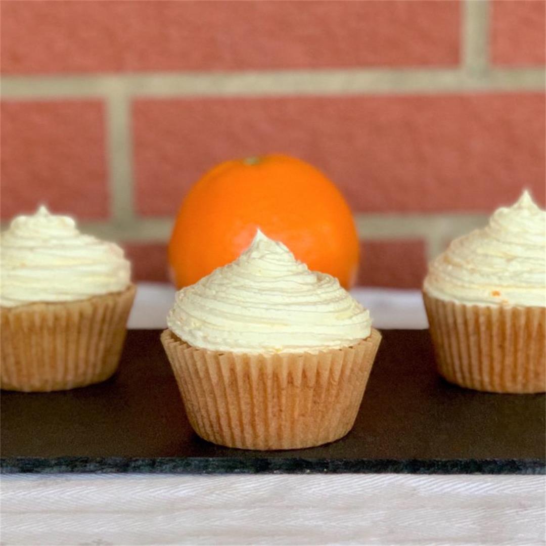 Orange Cupcakes With Fresh Orange Buttercream (Vegan)