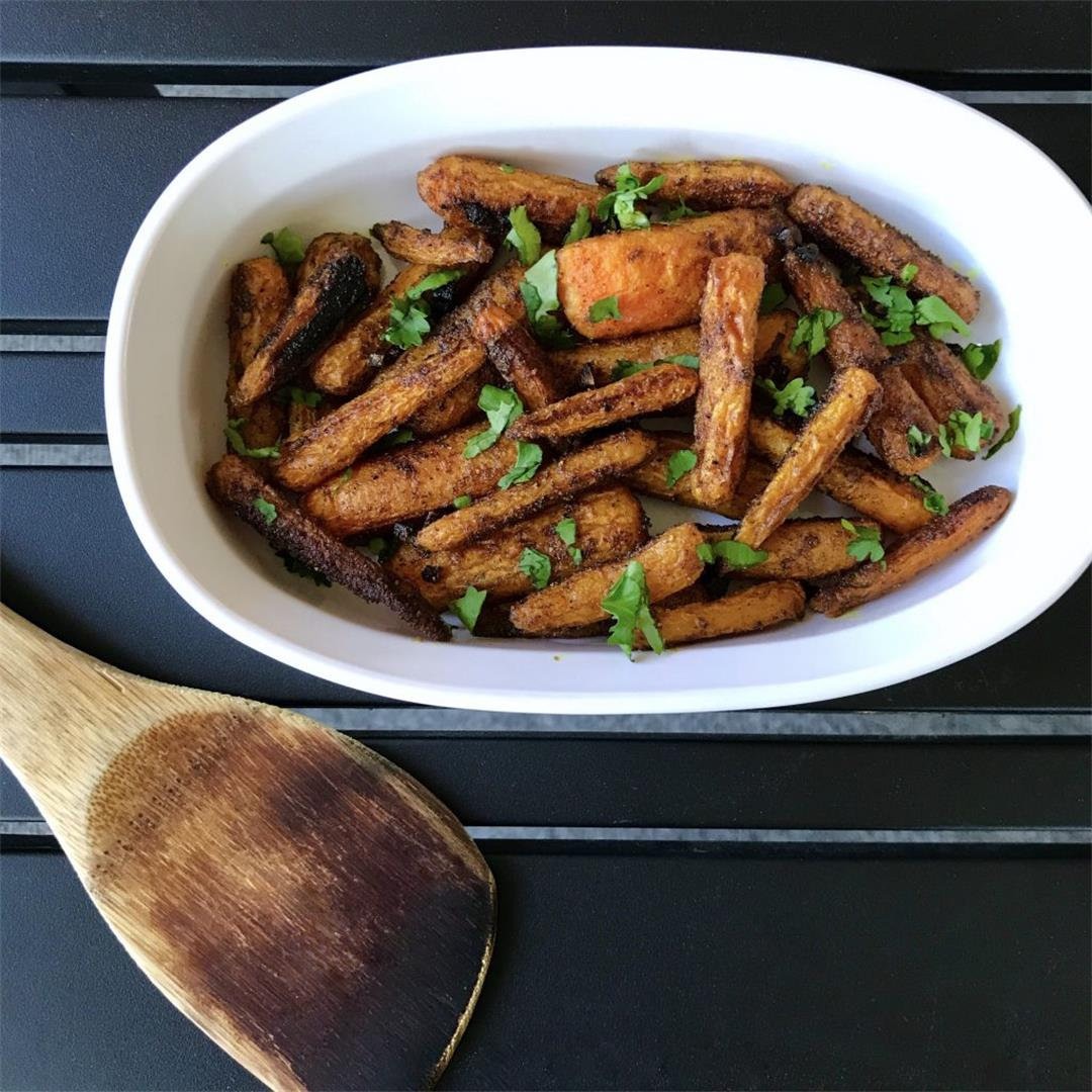 Moroccan Spiced Roasted Baby Carrots