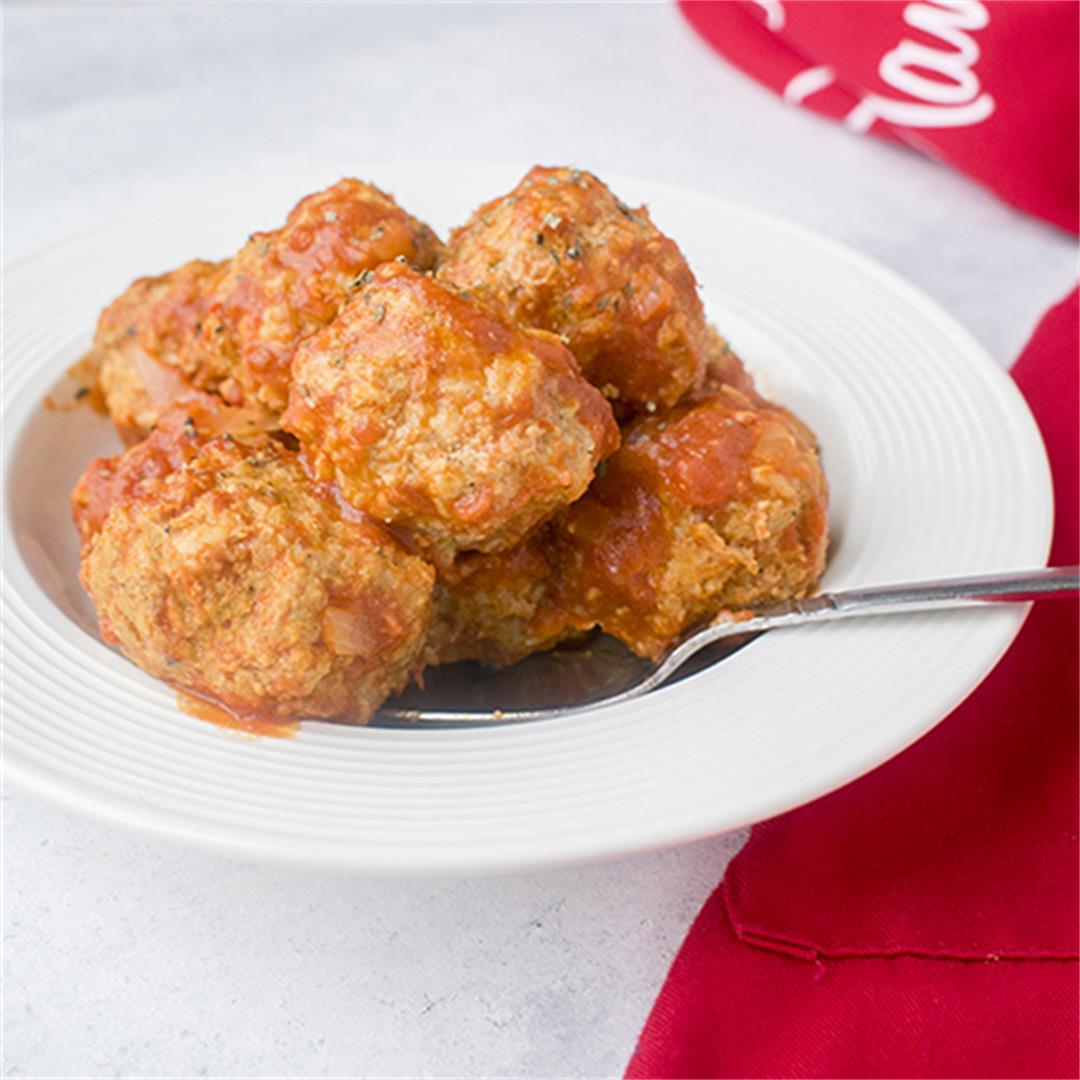 Gluten-Free Turkey Meatballs in Sauce