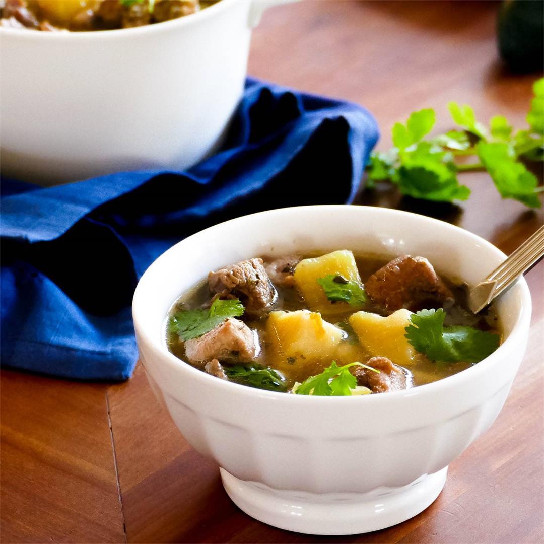 Instant Pot Pork and Hatch Chile Soup