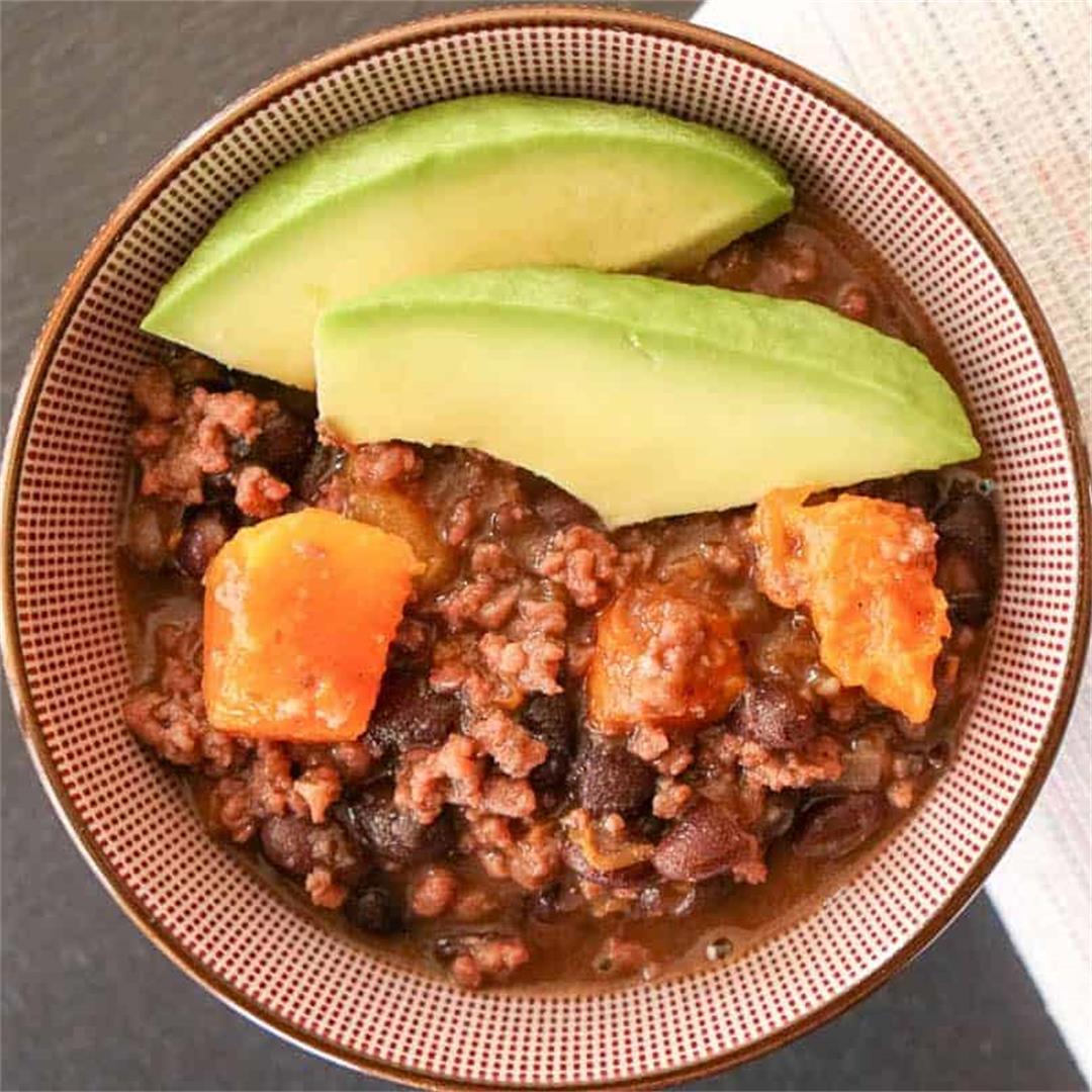 Beef, Black Bean And Pumpkin Chili