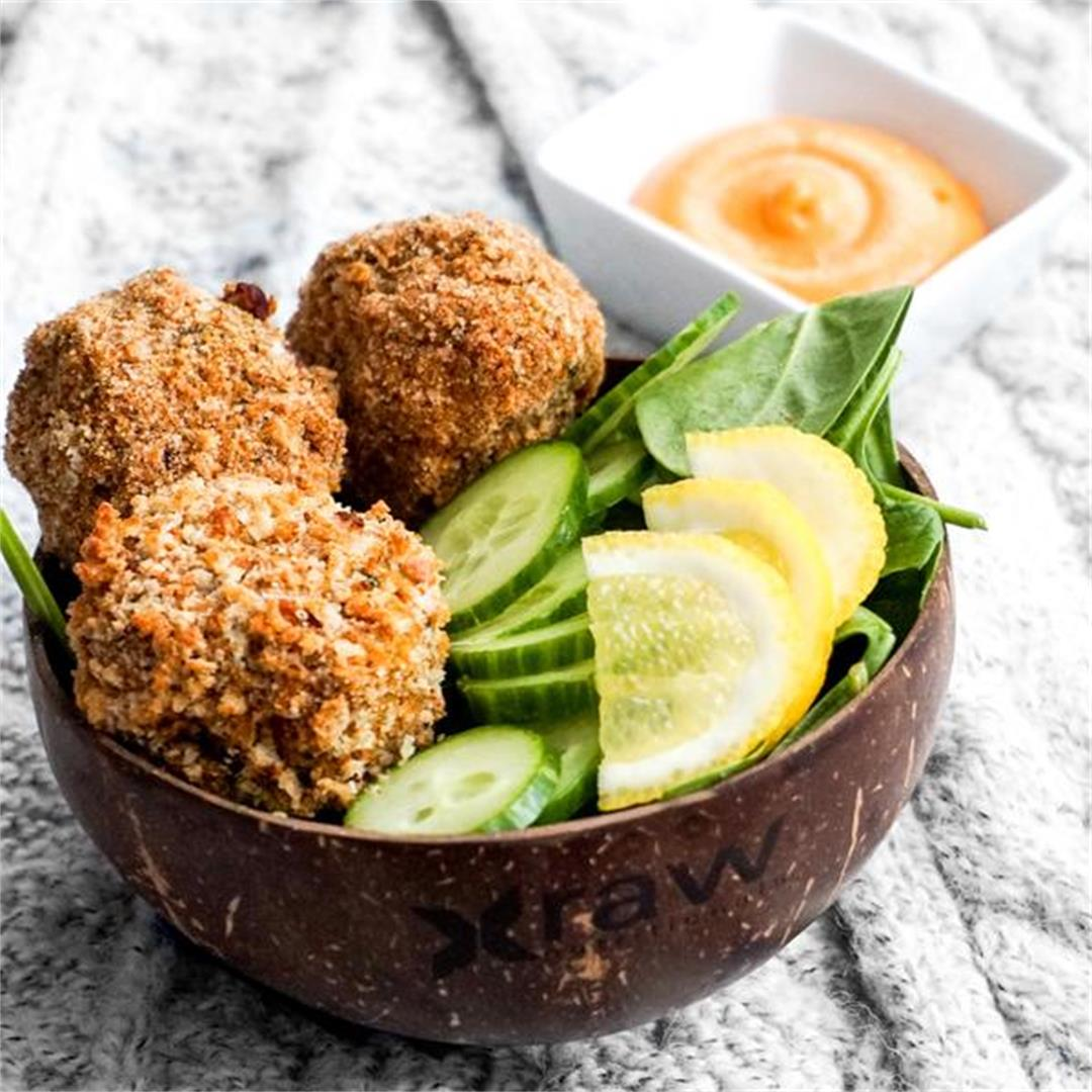 Oil-Free Crispy Sweet Potato Balls