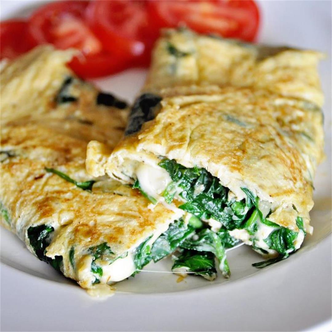 Spinach & Cheese Omelette | Easy Breakfast Recipe