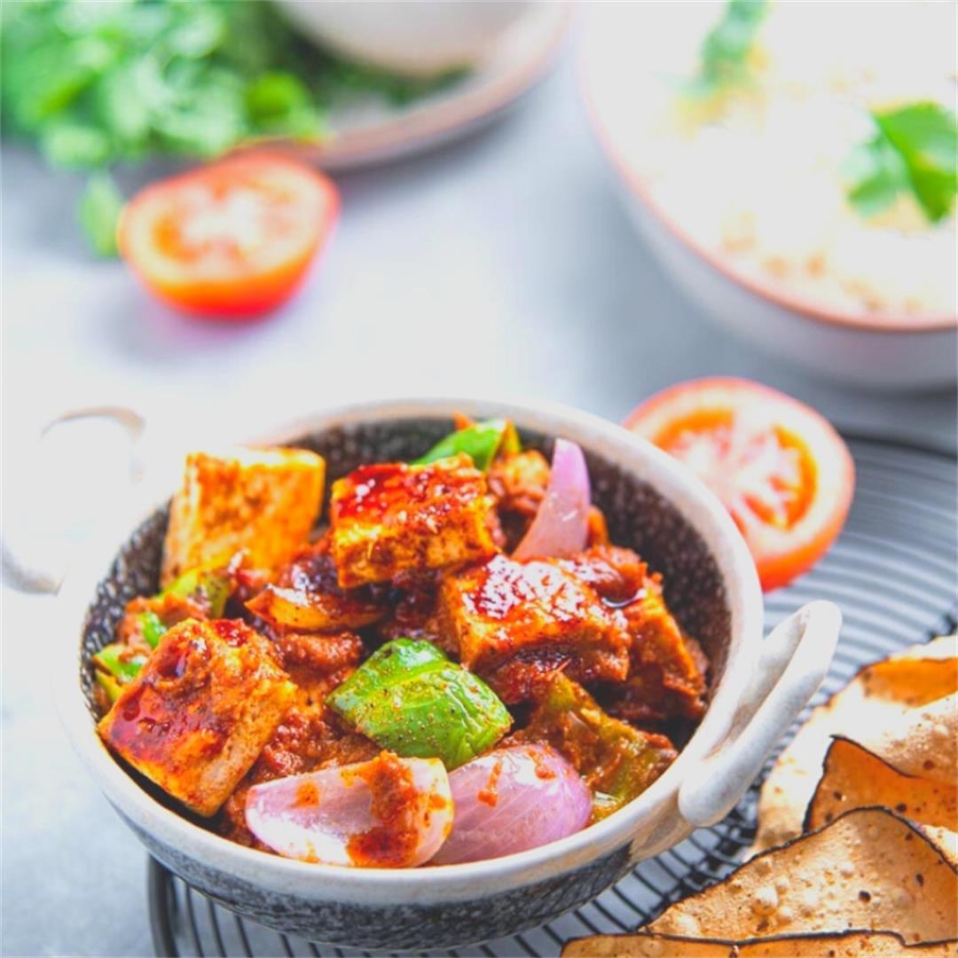 Gluten Free Kadai Tofu/Panner - A Perfect Dinner Recipe