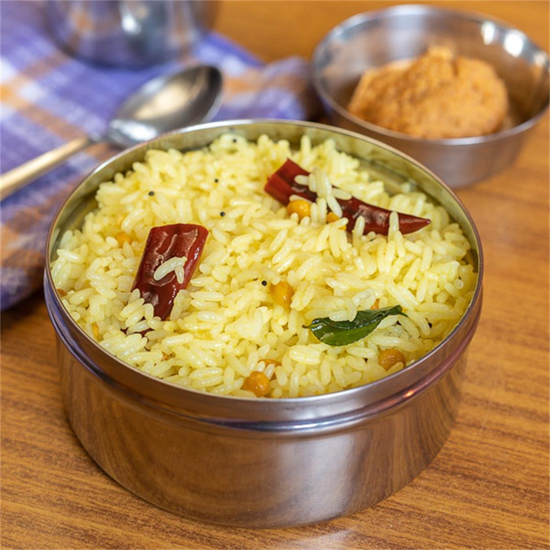 Lemon Rice Recipe, How to make South Indian Lemon Rice