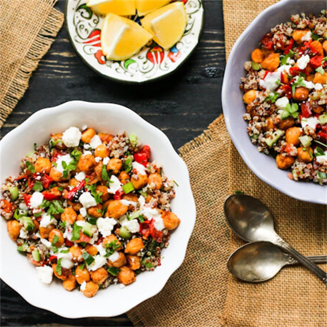 Vegan Roasted Chickpea Quinoa Bowl