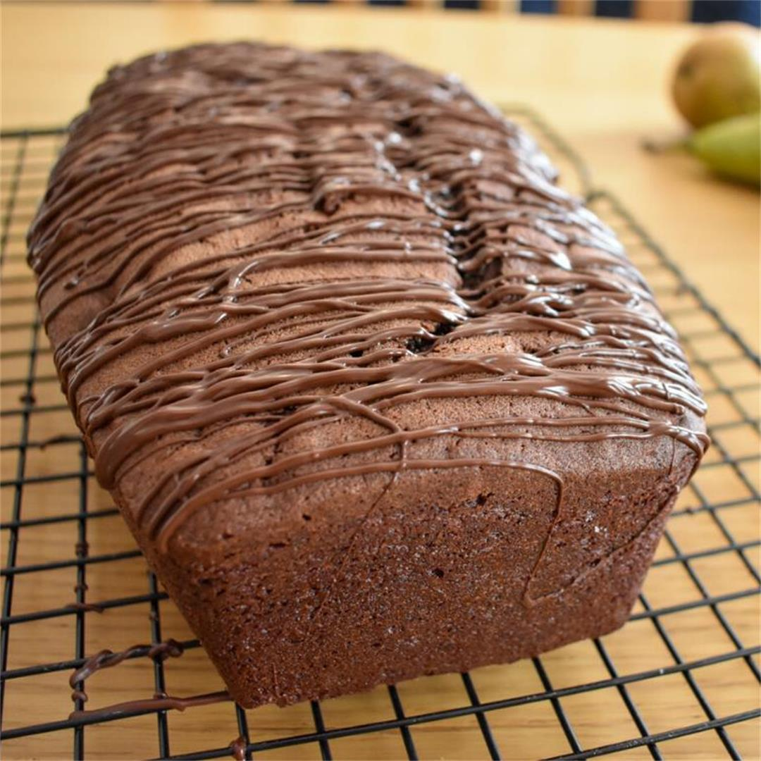 Chocolate and Pear Loaf Cake