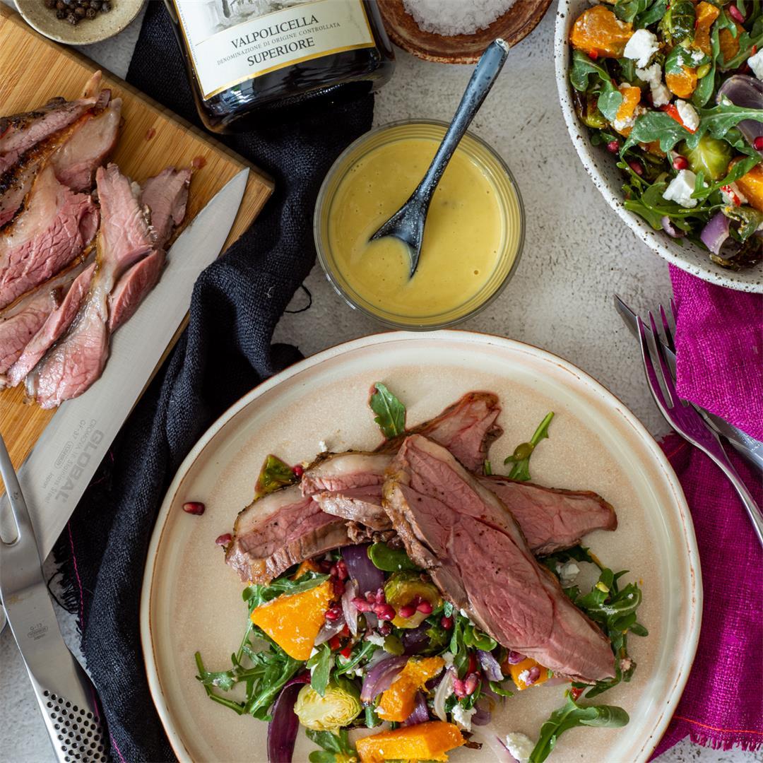 Grilled Lamb & Roasted Veg Salad