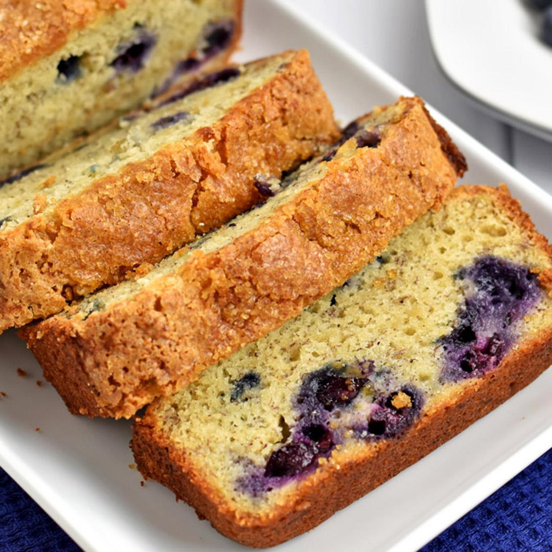 Gluten Free Banana Blueberry Bread