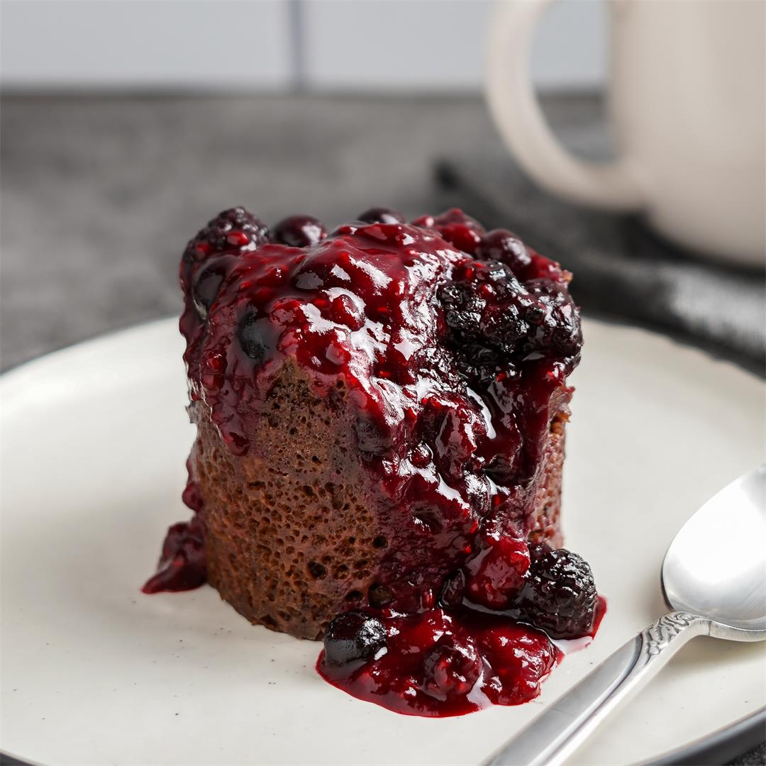 Chocolate Berry Mug Cake